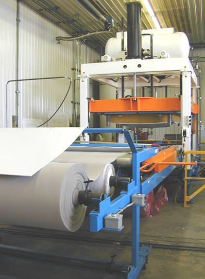 Carpet Bonding Press - Roll Feed