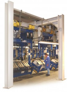 Overhead Monorail Power and Free Manufacturing Line